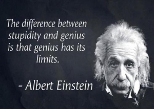 alberteinstein quote  stupidity vs genius